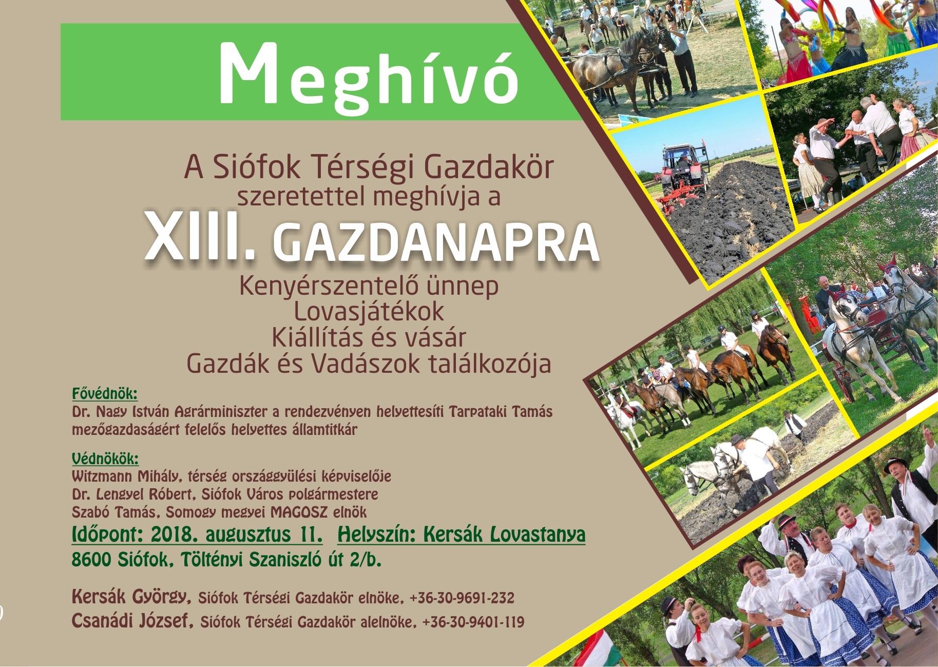 XIII. Siófoki Gazdanapok - 2018. augusztus 11.